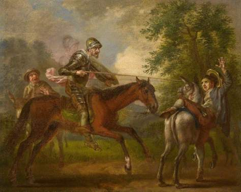 Hayman, Francis, 1708-1776; Don Quixote Attacking the Barber to Capture the Basin