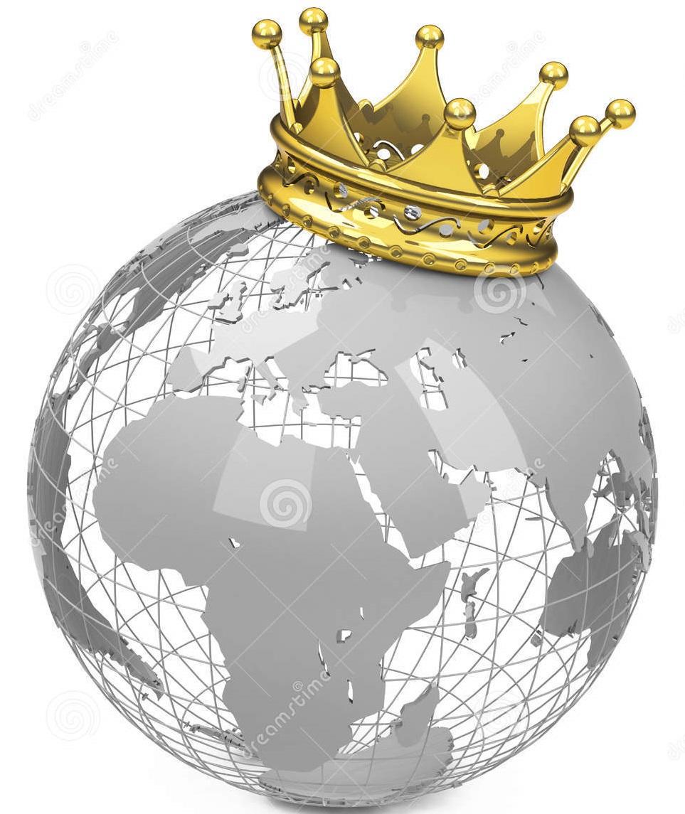 crown-globe-golden-white-background-48780599
