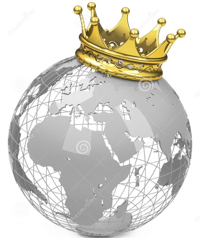 crown-globe-golden-white-background-48780599